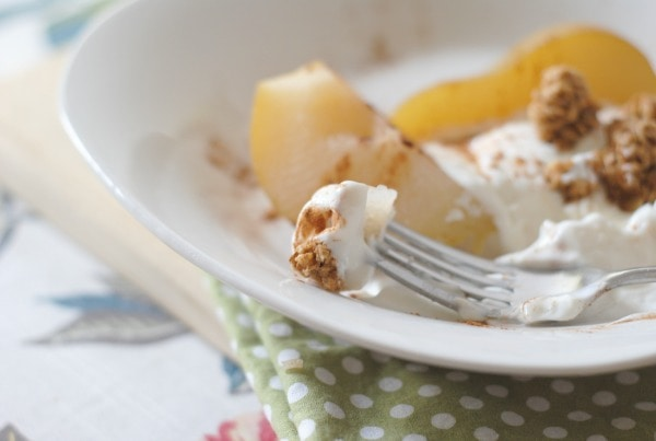 Cinnamon Topped Poached Pears #cleverlypoached #clevergirls