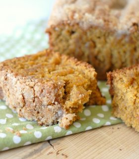 Crumb Topped Pumpkin Bread with Pompeian