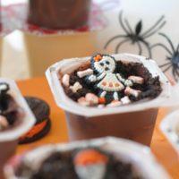 Skeleton Graveyard Pudding Cups
