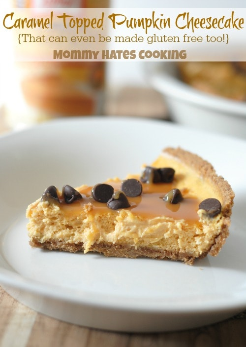 Caramel Topped Pumpkin Cheesecake #CansGetYouCooking #Sponsored