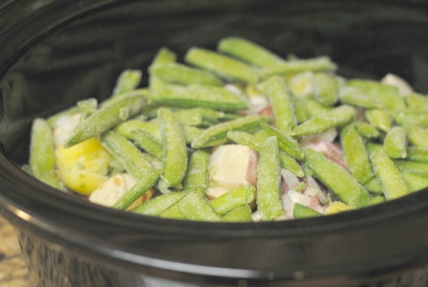 Slow Cooker Pork Chops with Green Beans & Potatoes