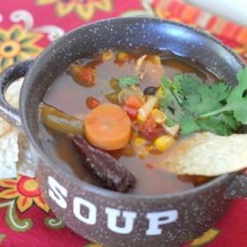 Spicy Chicken Tortilla Soup #VivaLaMorena #shop