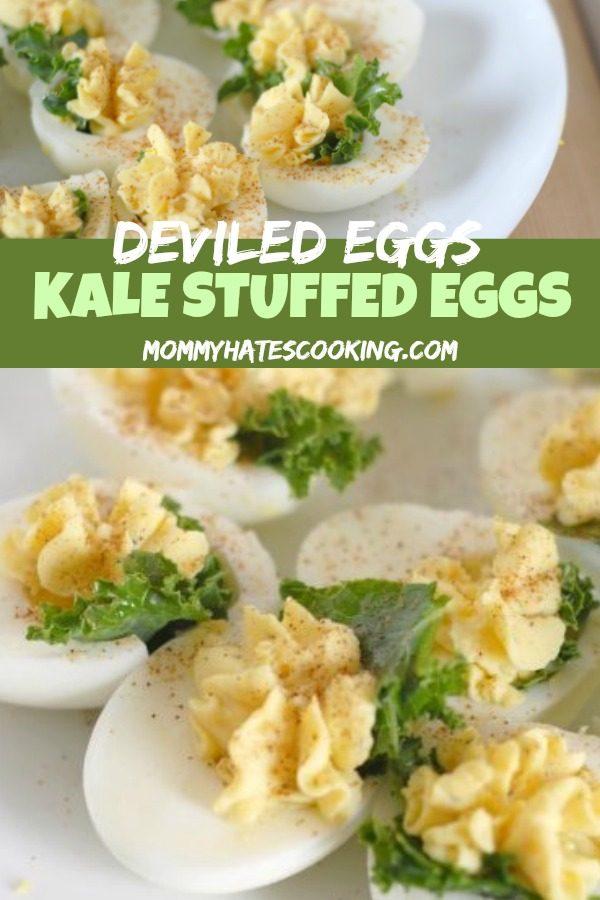 Kale Stuffed Deviled Eggs