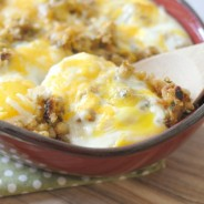 Egg Topped Cheesy Stuffing #TastetheSeason #shop