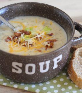 Loaded Mashed Potato Soup