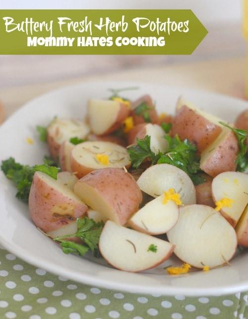 Buttery Fresh Herb Potatoes #TimetoBelieve #CleverGirls