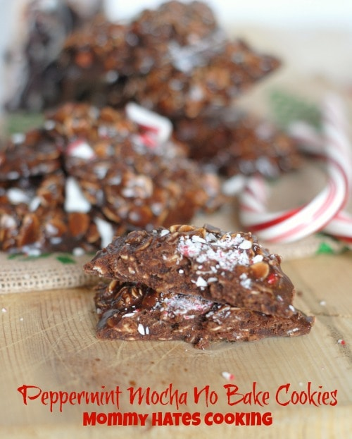 Peppermint Mocha No Bake Cookies #QuakerUp #MyOatsCreation #Spon