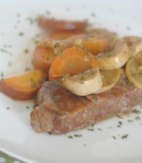 Slow Cooker Steak & Veggies