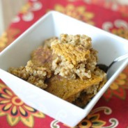 Baked Pumpkin Oatmeal with Steel Cut Oats I Mommy Hates Cooking