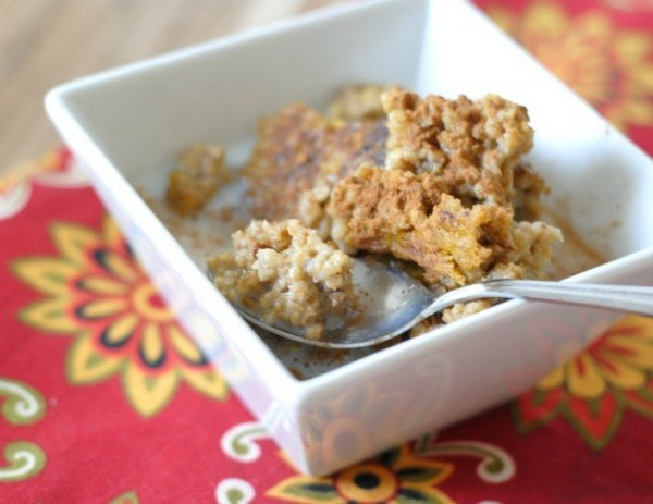 shared this recipe for Baked Pumpkin Oatmeal with Steel Cut Oats ...