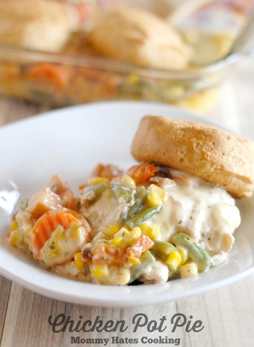 Chicken Pot Pie With Campbell S Oven Sauces Mommy Hates Cooking
