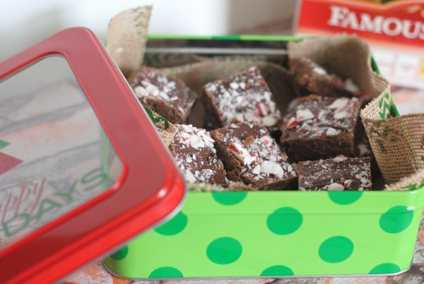 Peppermint Mocha Fudge #HolidayMadeSimple #ad