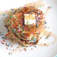 Fluffy Funfetti Pancakes