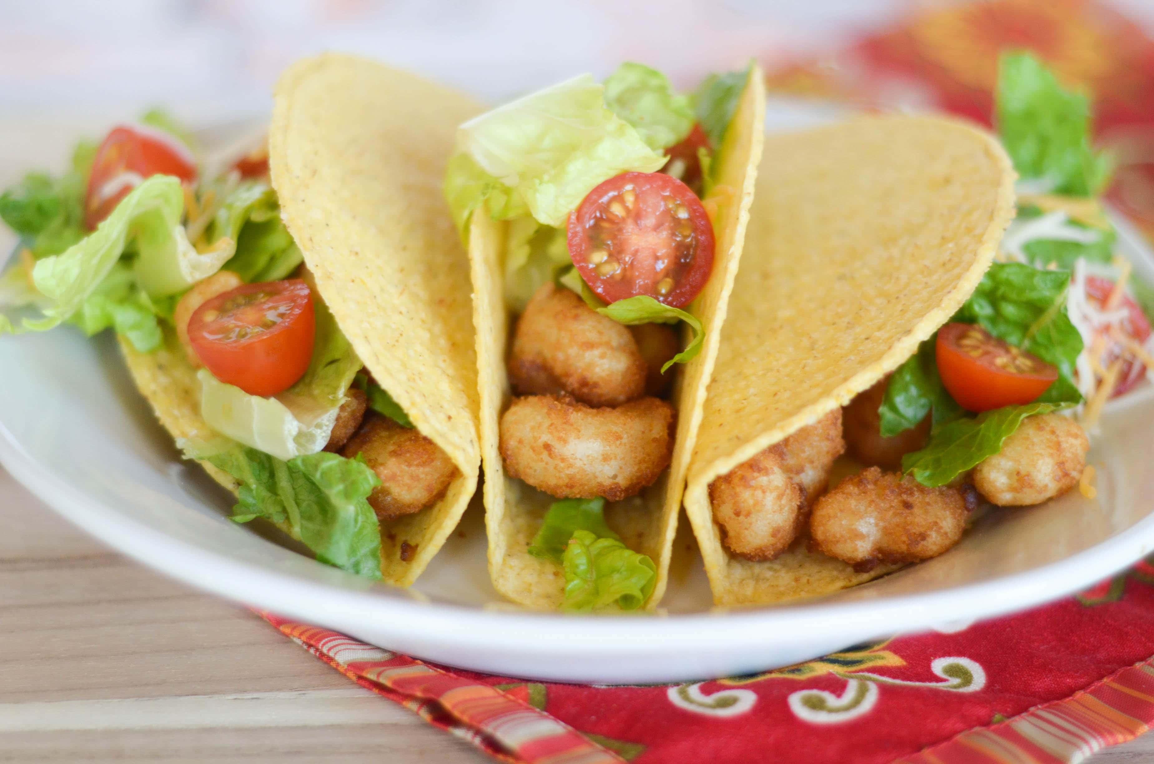 Popcorn Shrimp Tacos - Mommy Hates Cooking