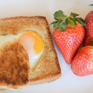Heart Shaped Eggs in a Basket