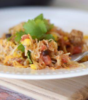 Spaghetti Squash Taco Skillet