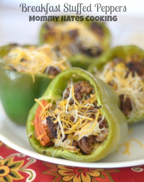 Breakfast Stuffed Peppers I Mommy Hates Cooking