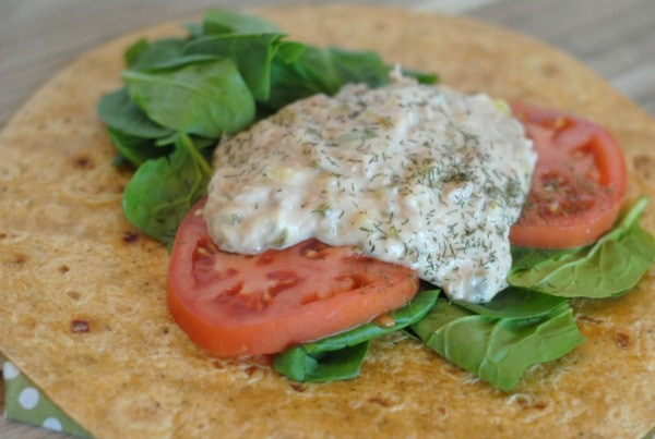Tuna Salad Wrap #BeeHealthy #CG
