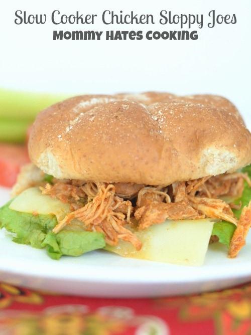 Slow Cooker Chicken Sloppy Joes #ManwichMondays