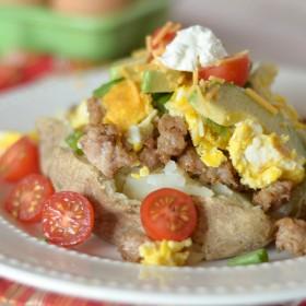 Breakfast Stuffed Baked Potatoes #GreatDay
