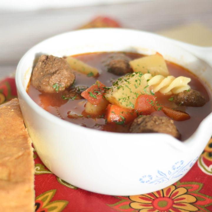 Slow Cooker Meatball Soup