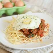Egg Topped Spaghetti 2 Blog Pic