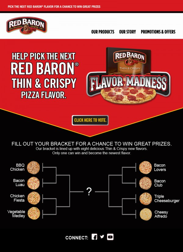 Red Baron Free Pizza for a Year #Giveaway #sponsored