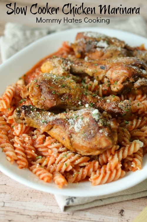 Slow Cooker Chicken Marinara I Mommy Hates Cooking