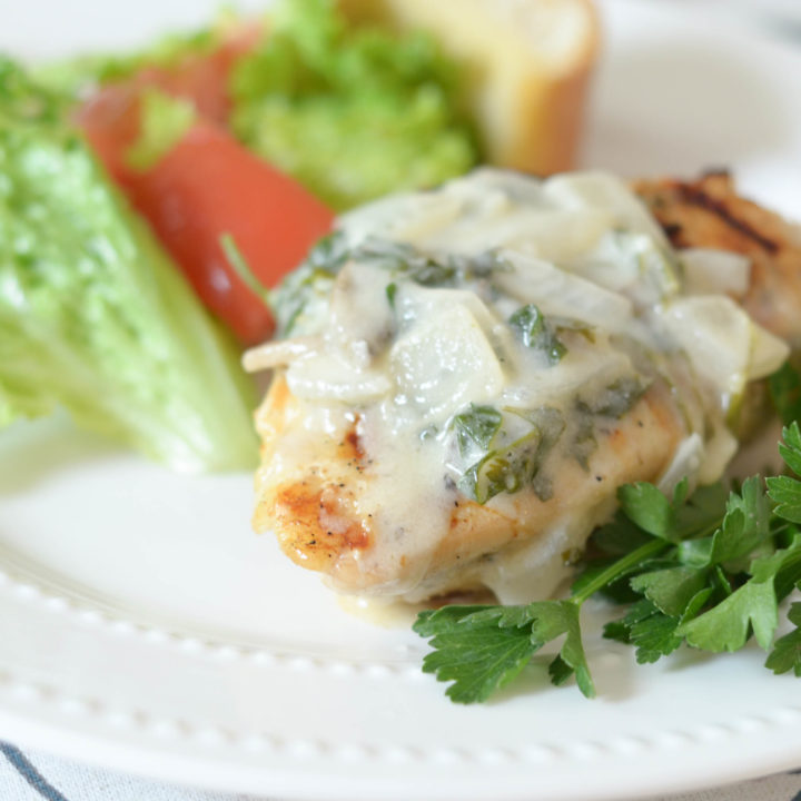 Grilled Chicken With White Wine Sauce