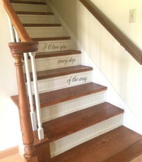 Taking Carpeted Stairs to Stained Wood