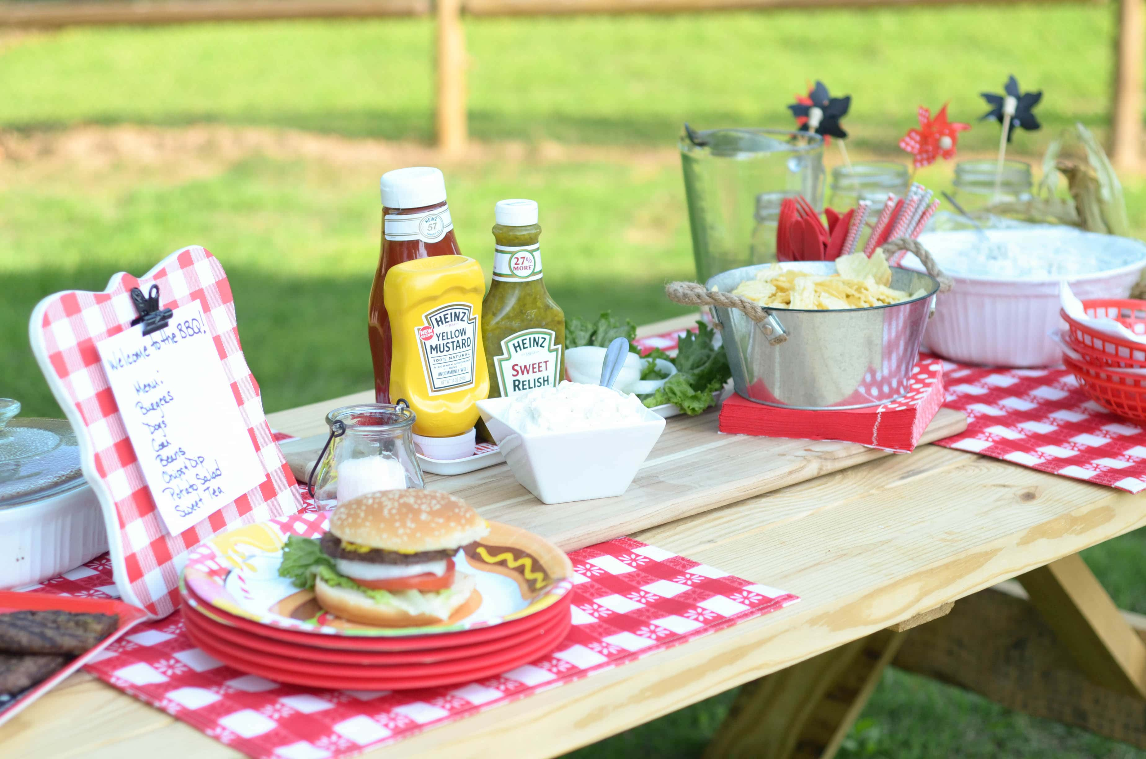 Mustard rub burgers outdoor party mommy hates cooking for Meal outdoors