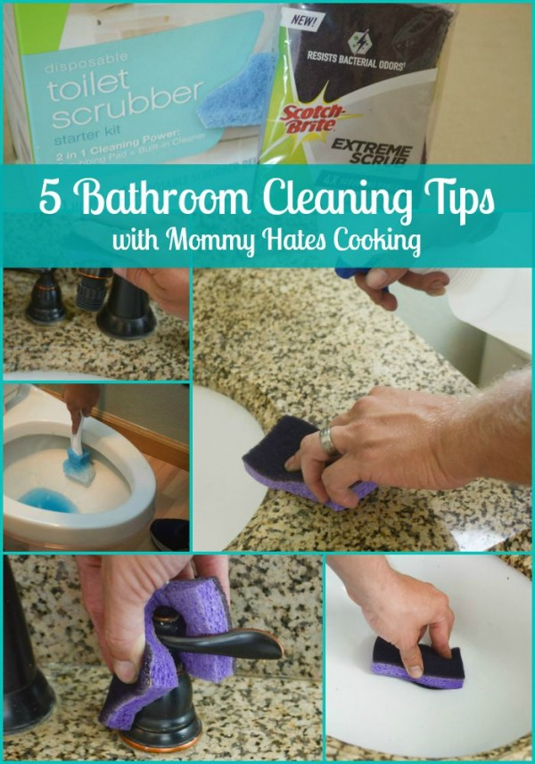 5 Bathroom Cleaning Tips with Scotch-Brite - Simple cleaning tips to get your home ready for guests! #CleanFeelsGood {ad}