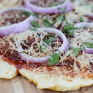 BBQ Brisket Grilled Pizza