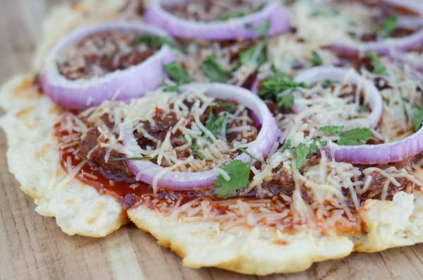 BBQ Brisket Grilled Pizza