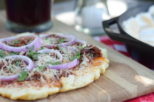 BBQ Brisket Grilled Pizza #ad