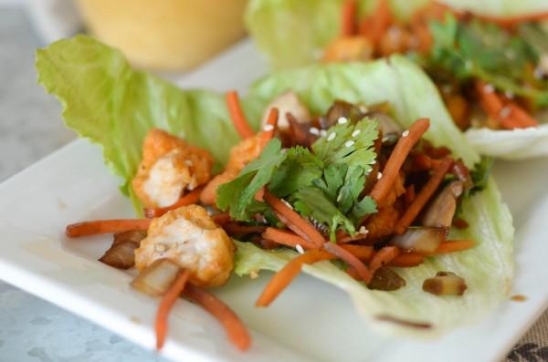 Buffalo Chicken Lettuce Wraps #BackYourSnack #ad