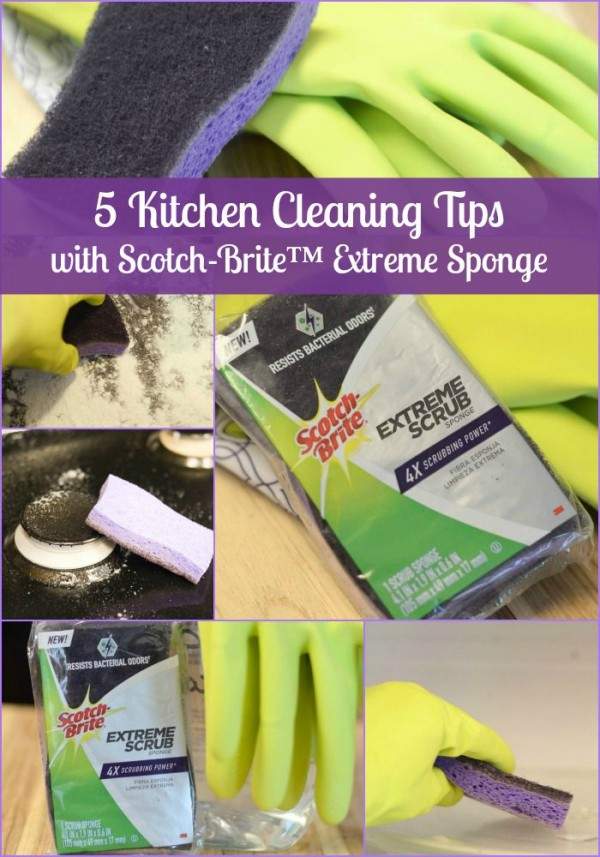 5 Kitchen Cleaning Tips with Scotch-Brite #CleanFeelsGood #Sponsored