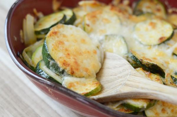 Zucchini & Onion Au Gratin