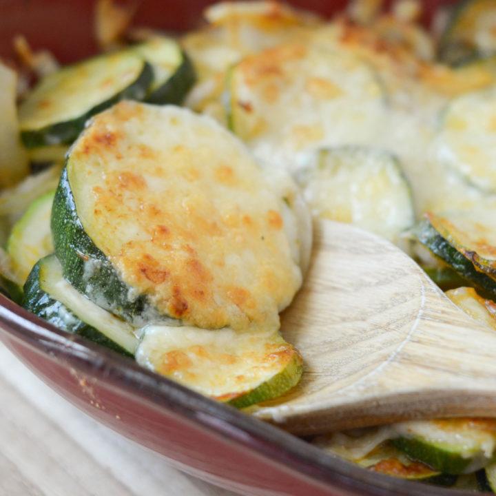 Zucchini & Onion Gratin