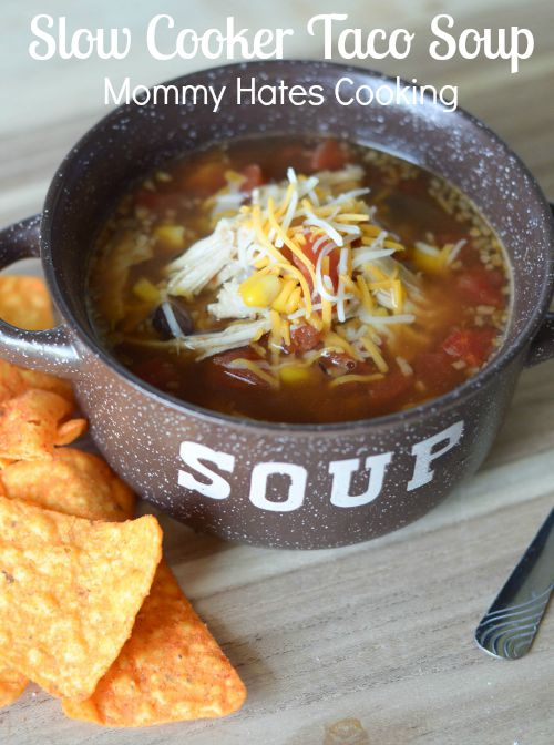 Slow Cooker Taco Soup #SimpleTurkeyDinners #IC #ad