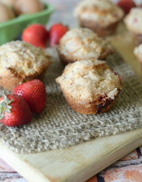 Strawberry Crumble Muffins #GreatDay #ad