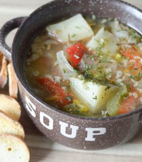 Slow Cooker Summer Vegetable Soup