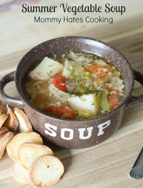 Slow Cooker Summer Vegetable Soup #SwansonSummer #ad