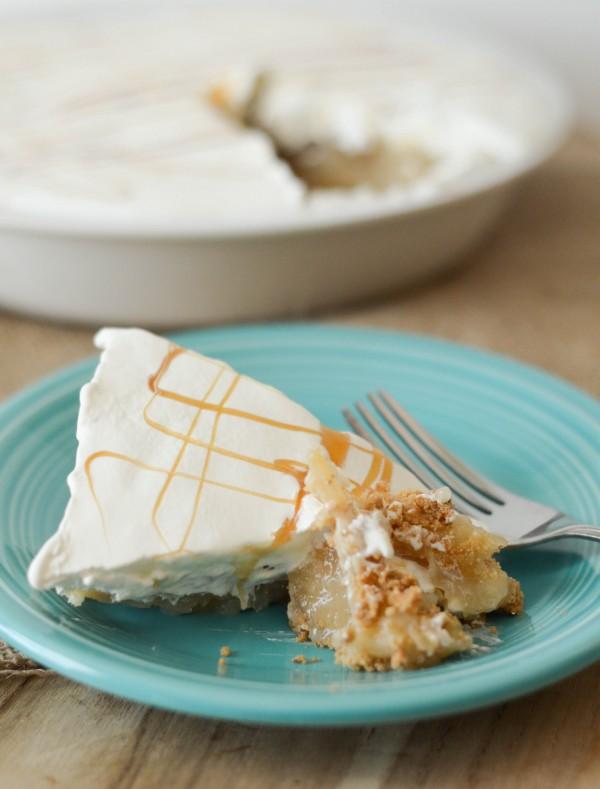 Gluten Free Caramel Apple Pie - The perfect no-bake Caramel Apple Pie!
