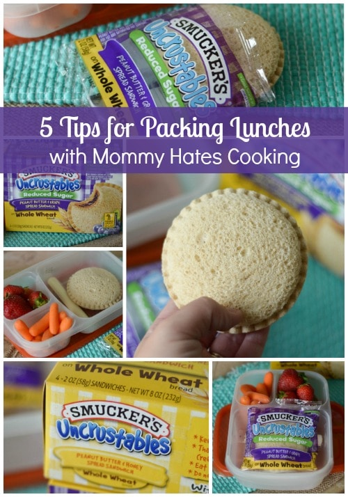 5 Tips for Packing Lunches #Uncrustables #ad