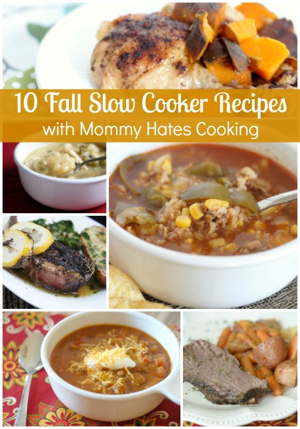 10 Fall Slow Cooker Recipes - The perfect warm, slow cooked meals for fall.