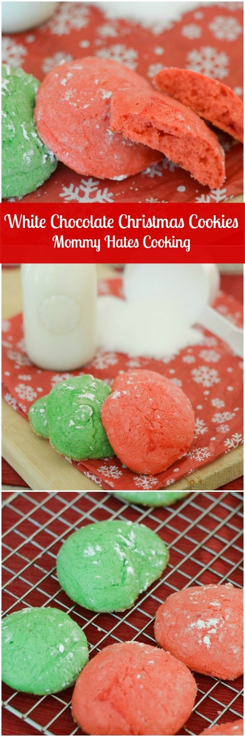 White Chocolate Christmas Cookies - A lower sugar treat by using Splenda with these Christmas Cookies! #SweetSwaps #ad