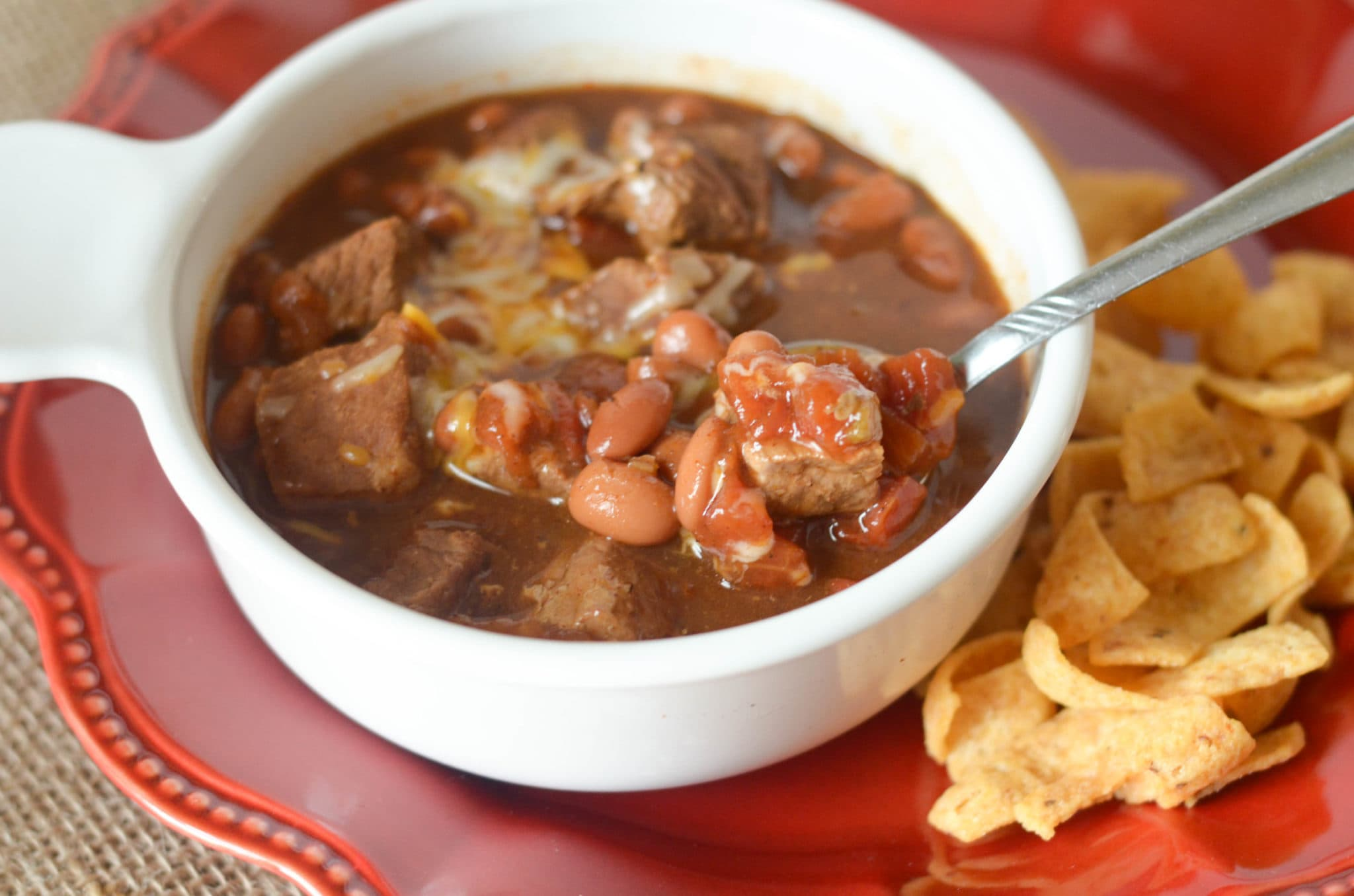 Slow Cooker Chili Beef StewMommy Hates Cooking