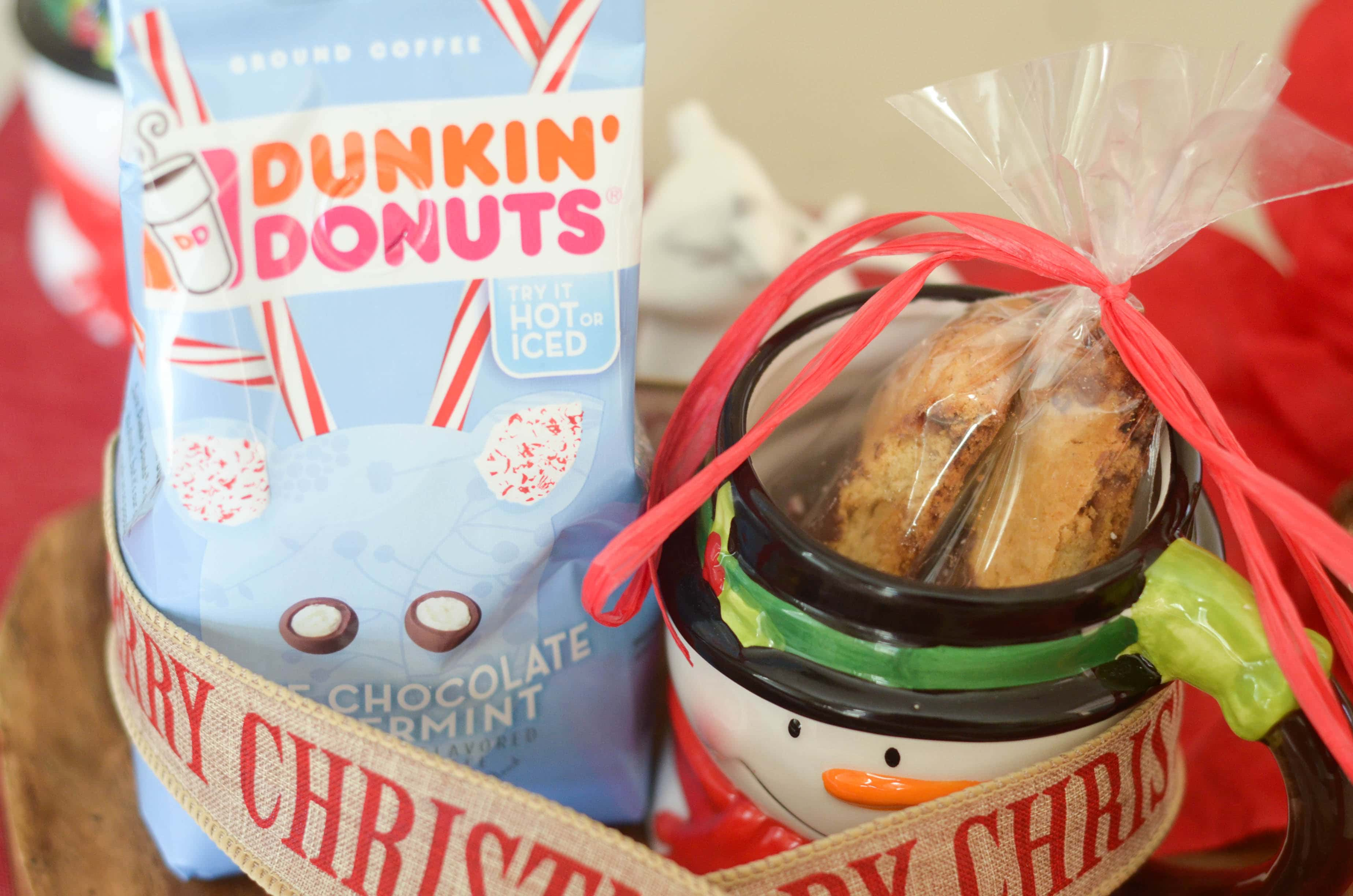 peppermint mocha biscotti dunkin donuts gift idea dunkintotherescue ad