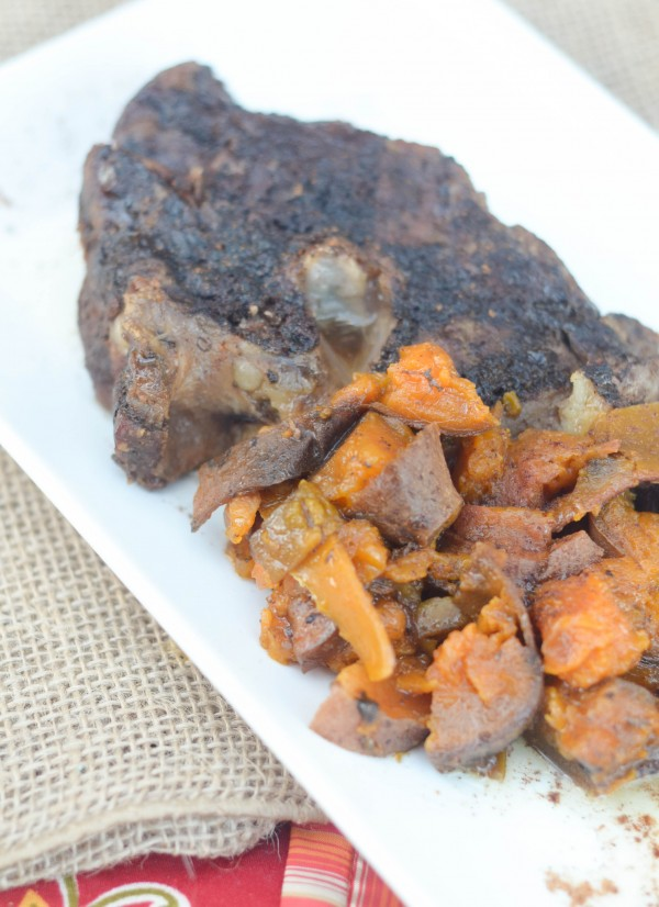 Slow Cooker Roast with Maple Sweet Potatoes